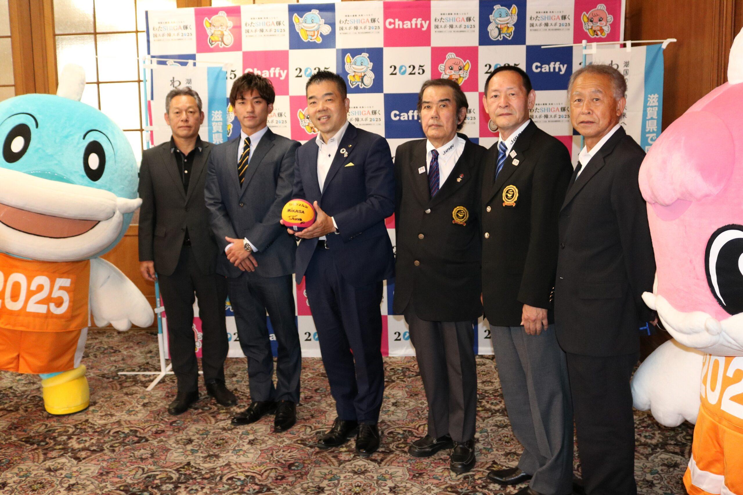 男子水球五輪代表 吉田拓馬選手が知事を表敬訪問!!